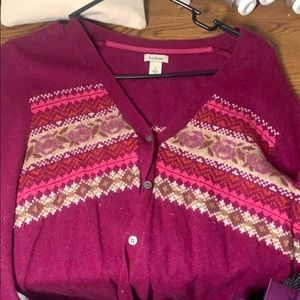 Patterned buttoned cardigan